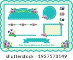 Cute Pansy Graphic Elements...