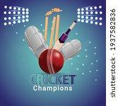 cricket tournament match...   Shutterstock .eps vector #1937582836