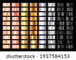gold rose  silver  black and... | Shutterstock .eps vector #1937584153