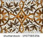 illustration in stained glass... | Shutterstock .eps vector #1937585356