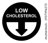 cholesterol icon in silhouette... | Shutterstock .eps vector #1937596273
