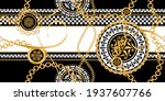 seamless pattern decorated with ... | Shutterstock .eps vector #1937607766
