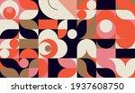 mid century geometric abstract... | Shutterstock .eps vector #1937608750