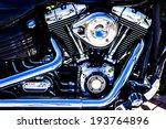 Shiny Chrome Motorcycle Engine...