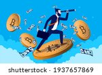 bitcoin trader looking for... | Shutterstock .eps vector #1937657869