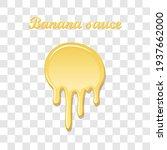 banana sauce drip 3d. sweet... | Shutterstock .eps vector #1937662000