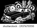 vector illustration of car... | Shutterstock .eps vector #1937670550