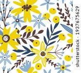 spring seamless pattern with... | Shutterstock .eps vector #1937675629