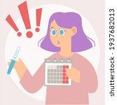 unwanted early pregnancy. girl... | Shutterstock .eps vector #1937682013