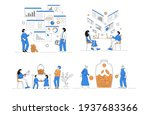 financial and business... | Shutterstock .eps vector #1937683366
