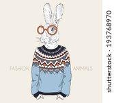fashion illustration of hare... | Shutterstock .eps vector #193768970