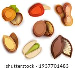 collection cartoon icon nuts in ...   Shutterstock .eps vector #1937701483