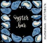 oyster bar. decorative poster...   Shutterstock .eps vector #1937708176