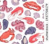 decorative vector seamless...   Shutterstock .eps vector #1937708179