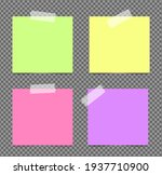 realistic sticky notes isolated ... | Shutterstock .eps vector #1937710900