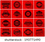 racing badge set  vector... | Shutterstock .eps vector #193771490