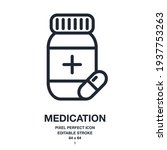 medication and pill editable... | Shutterstock .eps vector #1937753263