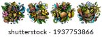 hawaii cartoon vector doodle... | Shutterstock .eps vector #1937753866