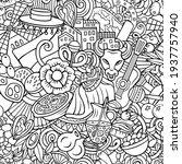 cartoon doodles spain seamless...   Shutterstock .eps vector #1937757940