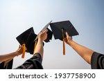 Graduates student graduation...