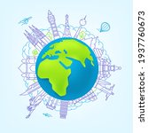 world travel vector concept.... | Shutterstock .eps vector #1937760673