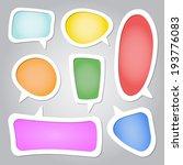 colorful speech bubbles...   Shutterstock .eps vector #193776083