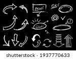 a set of handwritten arrow... | Shutterstock .eps vector #1937770633