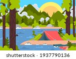 amping landscape. countryside... | Shutterstock .eps vector #1937790136
