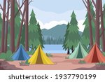 amping landscape. countryside... | Shutterstock .eps vector #1937790199