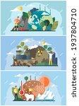 set of illustrations on theme... | Shutterstock .eps vector #1937804710