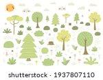 cartoon woodland landscape ...   Shutterstock .eps vector #1937807110