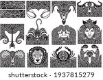 set of zodiac signs icons.... | Shutterstock .eps vector #1937815279