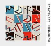 modern abstract geometric... | Shutterstock .eps vector #1937819626