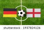 Top View Ball With Germany Vs....