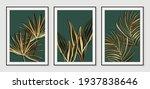 botanical wall art vector set.... | Shutterstock .eps vector #1937838646