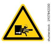 danger keep clear of swinging... | Shutterstock .eps vector #1937842330
