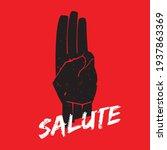 three finger salute on red...   Shutterstock .eps vector #1937863369
