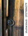 Vertical Closeup On Garden Door ...
