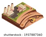isometric mining industry and... | Shutterstock .eps vector #1937887360