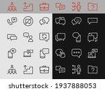 simple set of message line... | Shutterstock .eps vector #1937888053