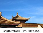 Chinese Temple Roof Under A...
