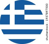 greece round flag icon. travel... | Shutterstock .eps vector #1937897500