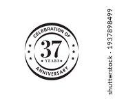 37th year anniversary emblem... | Shutterstock .eps vector #1937898499