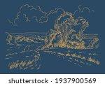 rural scenery landscape...   Shutterstock .eps vector #1937900569