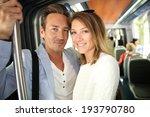 people in town taking public... | Shutterstock . vector #193790780