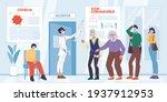 vector cartoon flat patient...   Shutterstock .eps vector #1937912953