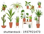 big set of isolated home plants ... | Shutterstock .eps vector #1937921473