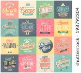 Summer and Travel set - labels and emblems.