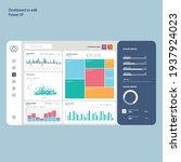 dashboard to edit. power bi.... | Shutterstock .eps vector #1937924023