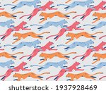 seamless pattern design with... | Shutterstock .eps vector #1937928469